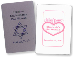 Custom Cards for Bar/Bat Mitzvahs