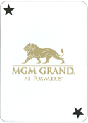 MGM Grand Custom Playing Cards Face