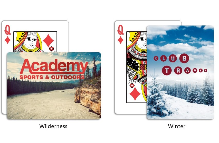 Wilderness & Winter Custom Playing Cards