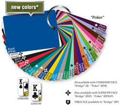 Champion Poker Size Card Colors