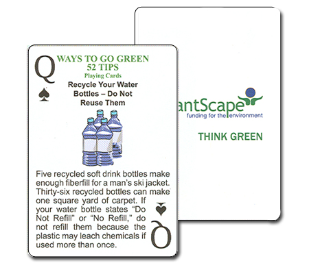 Custom Recycling Tips Playing Cards