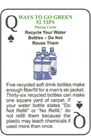 Custom Recycling Tip Playing Cards