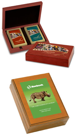 Wooden Playing Card Boxes, Full Color Custom Print
